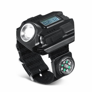 Đồng hồ đeo tay có đèn pin và la bàn
