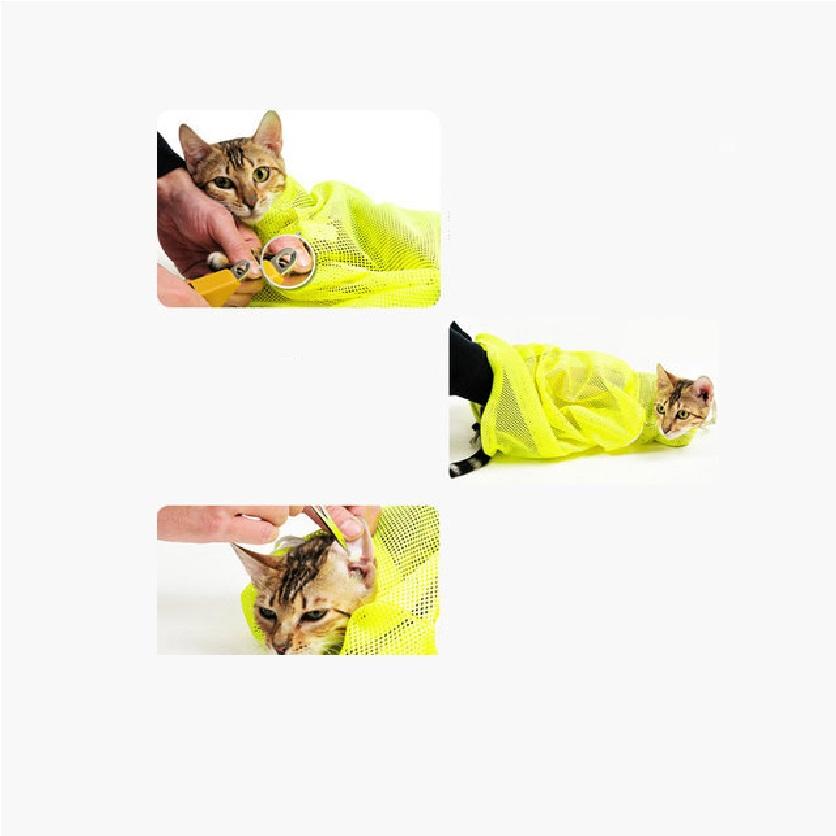 Túi lưới đa năng hỗ trợ tắm mèo tránh bị mèo cào