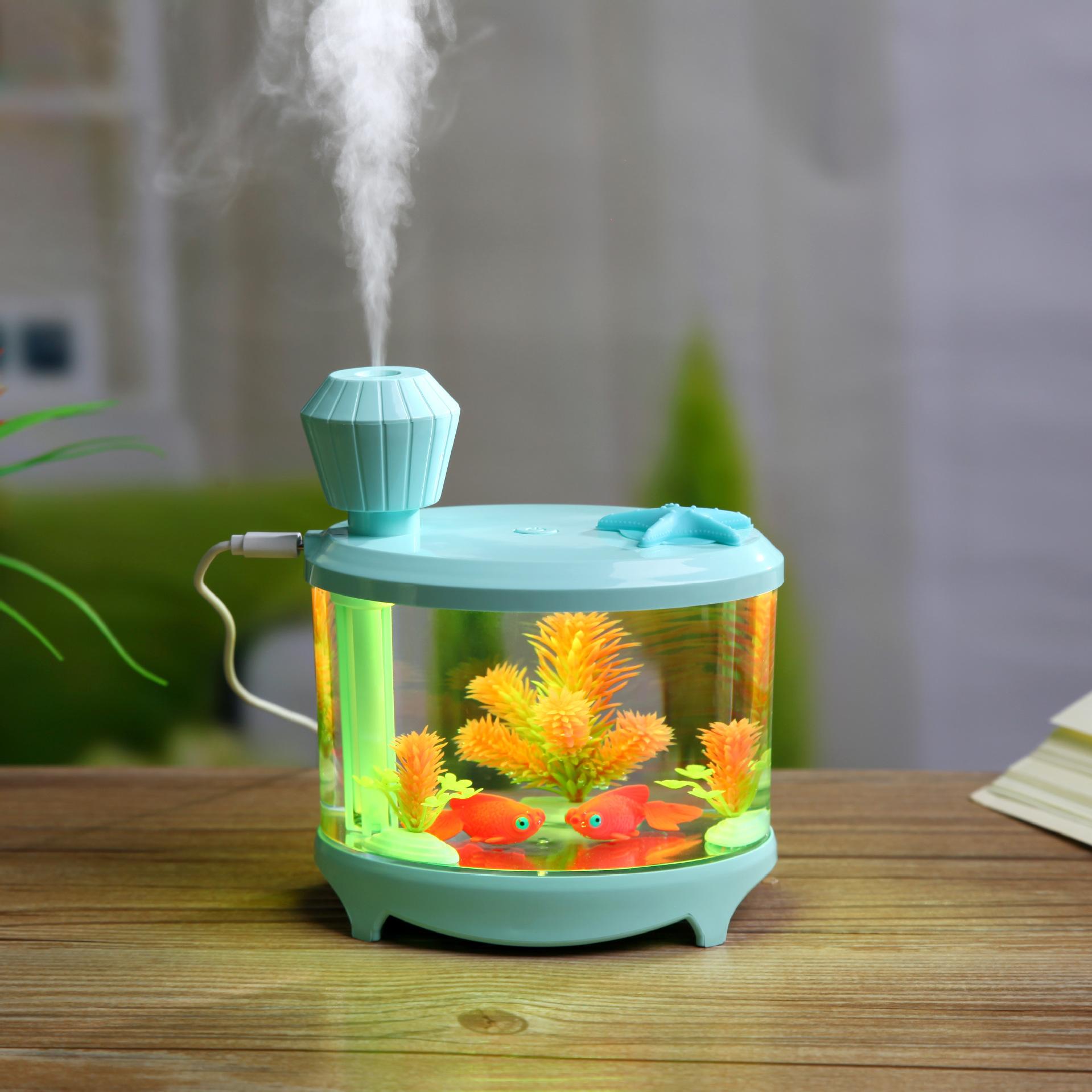 Máy tạo độ ẩm hình bể cá mini (4 màu)