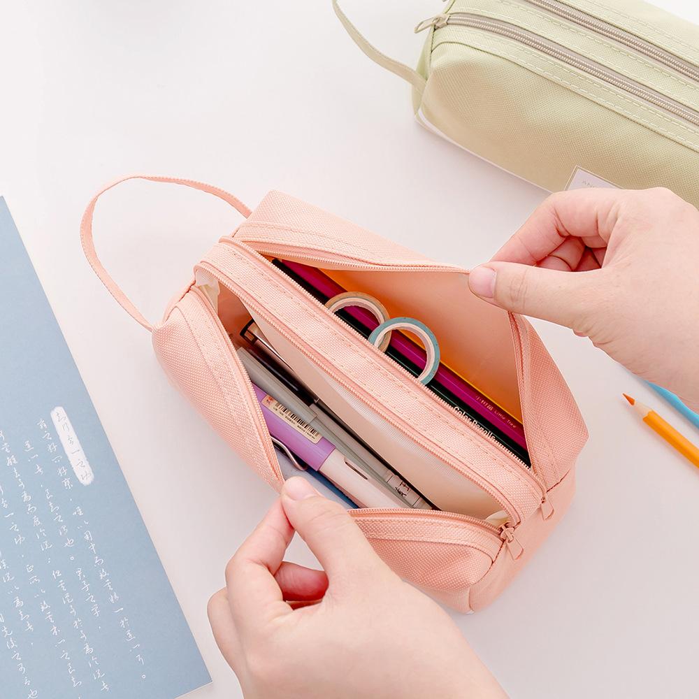 Túi đựng bút 2 sọc ngang có 2 ngăn