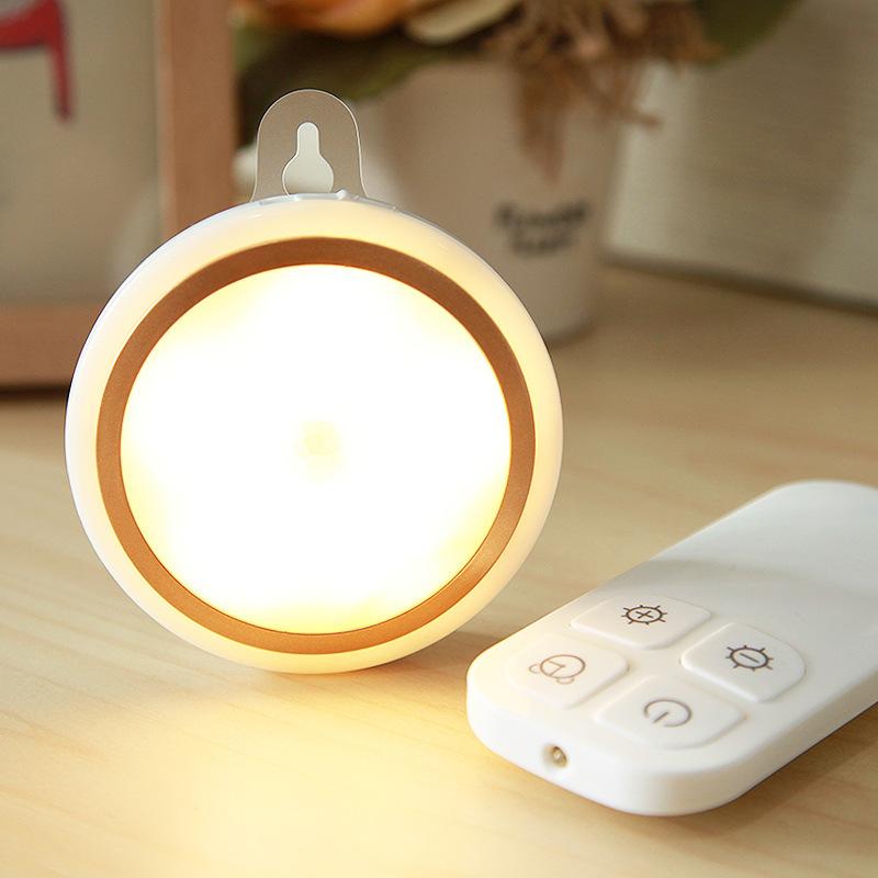 Đèn led trần điều khiển từ xa hình tròn (sài pin)
