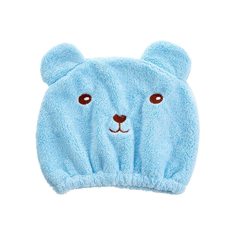 Khăn mũ trùm đầu khô tóc hình gấu 26cm