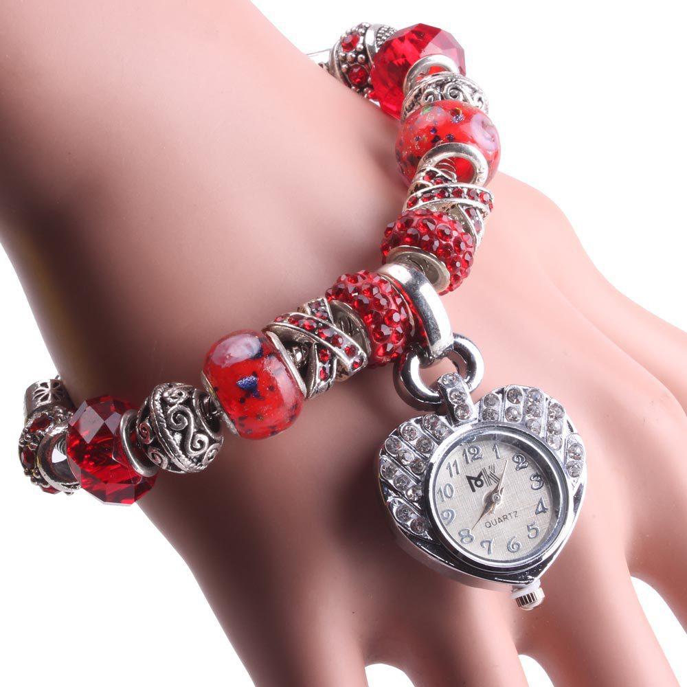 Đồng hồ lắc vong tay padora hình trai tim Quartz (số 9 và 11)