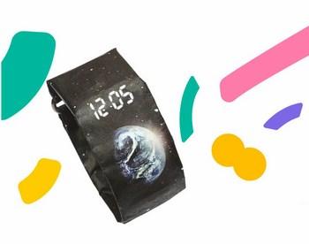 Đồng hồ Led điện tử bằng giấy chống nước