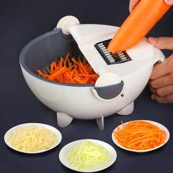Dụng cụ bào rau củ có rổ rửa nhiều dao thay thế