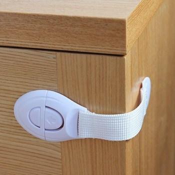 Dụng cụ khóa tủ màu trắng 20x5cm