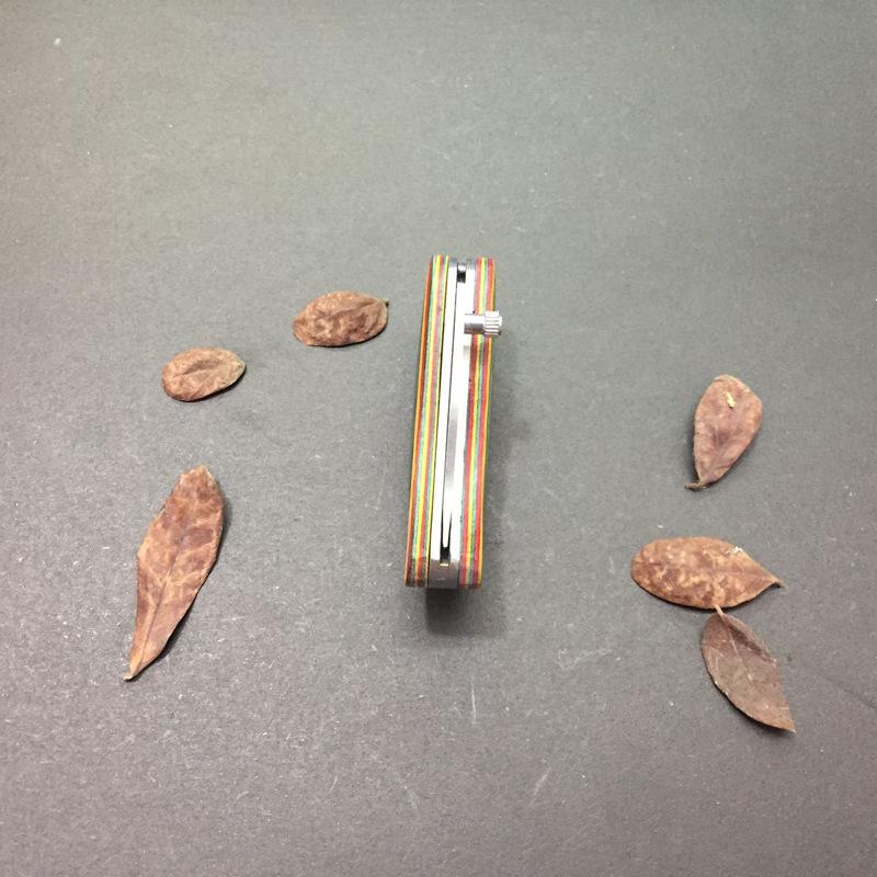 Dao mini gấp gọn AlasKan cán gỗ