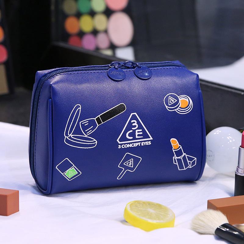 Túi da pu đựng mỹ phẩm 3ce 12x8x18cm