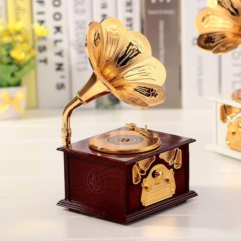 Hộp nghe nhạc cổ điển có ngăn đựng 12.5x10.3x21.5cm
