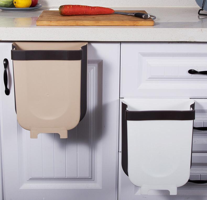 Thùng rác nhà bếp treo cửa gấp gọn