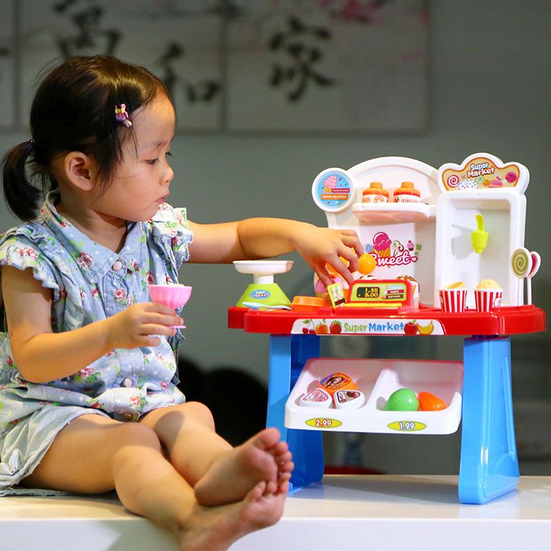 Bộ đồ chơi siêu thị mini 34 món cho bé Super Market
