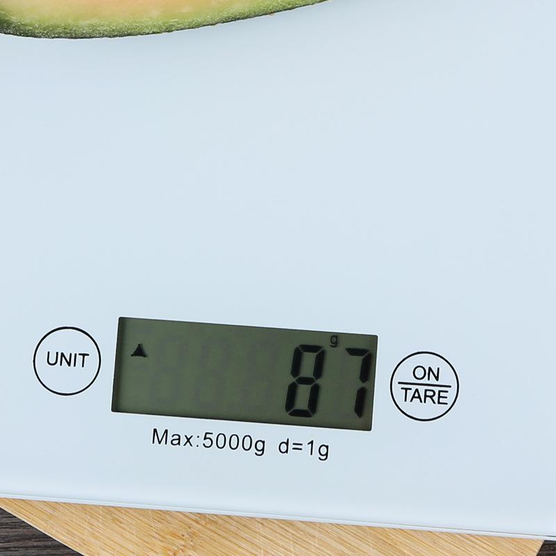 Cân điện tử nhà bếp 5kg-1g QE-KE-A 23x16x2cm