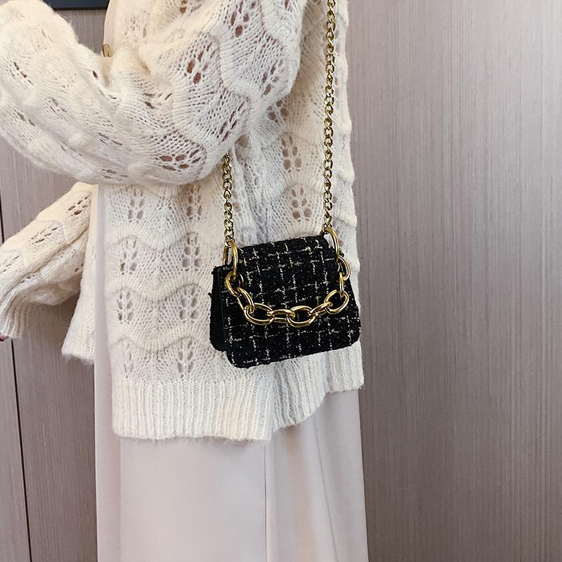 Túi dạ mini quai xích phong cách Hàn Quốc 9x15x3cm
