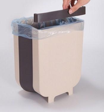 Thùng rác nhà bếp treo cửa gấp gọn 25x17,5x28,5 cm
