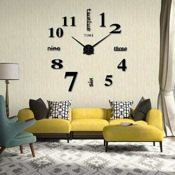 Đồng hồ treo tường tráng gương xen chữ (loại lớn)