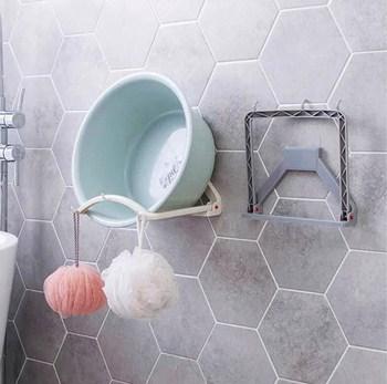 Giá treo chậu rửa dán tường có 3 móc tiện dụng 13.2x20.7x21.2