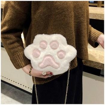 Túi đeo chéo hình bàn chân mèo dễ thương