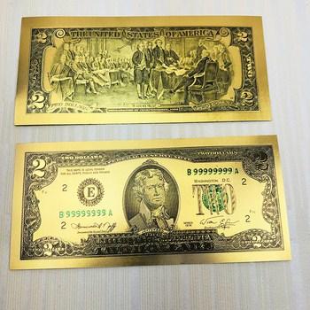 Tiền đô mạ vàng lì xì tờ 2 đô