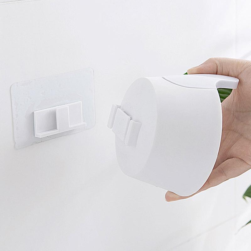 Chai đựng xà phòng gắn tường PUSH màu trắng 11.5x3x5.5cm