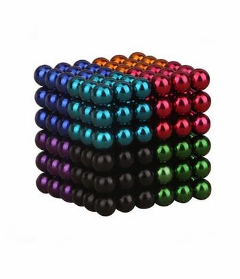 Bi nam châm tròn - bucky ball 5mm 8 màu