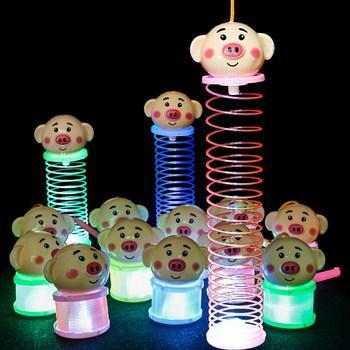 Lồng đen lò xo đèn led cho bé hình heo và chuột mickey