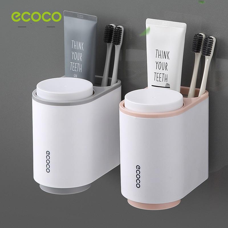Giá đựng cốc, bàn chai, kem đánh răng Ecoco 13x11x8.3cm