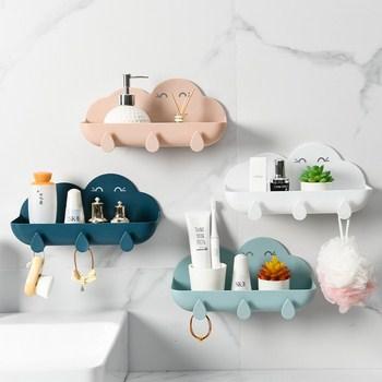 kệ đựng vật dụng nhà tắm hình đám mấy có 3 móc