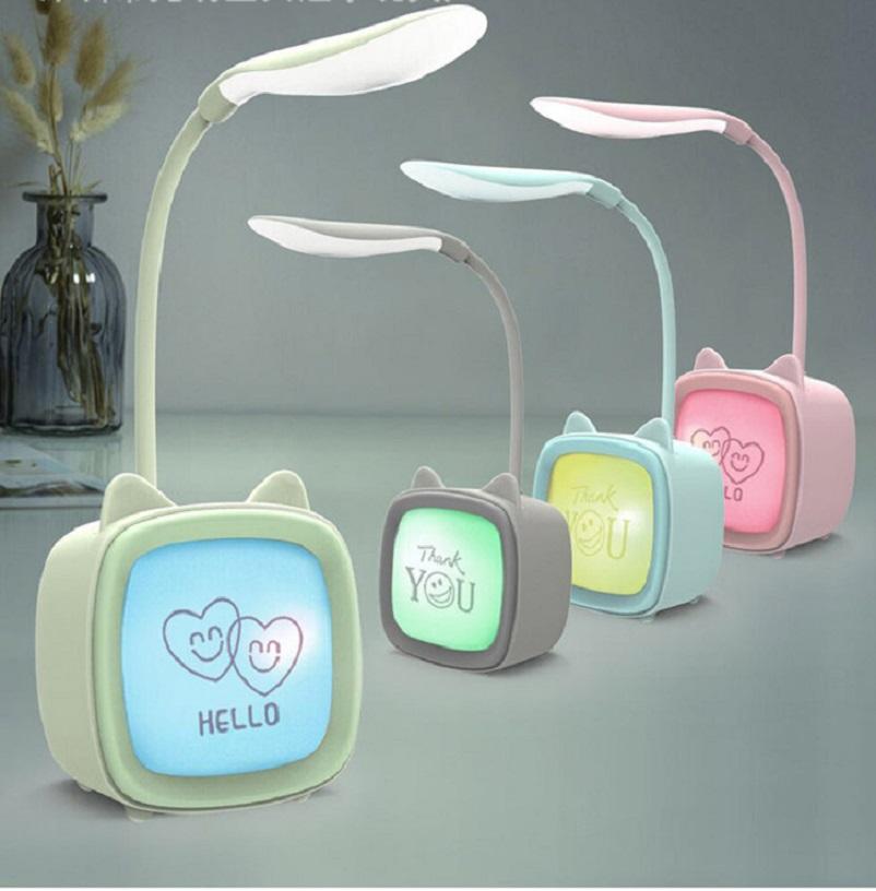 Đèn led để bàn học sạc usb hình lá