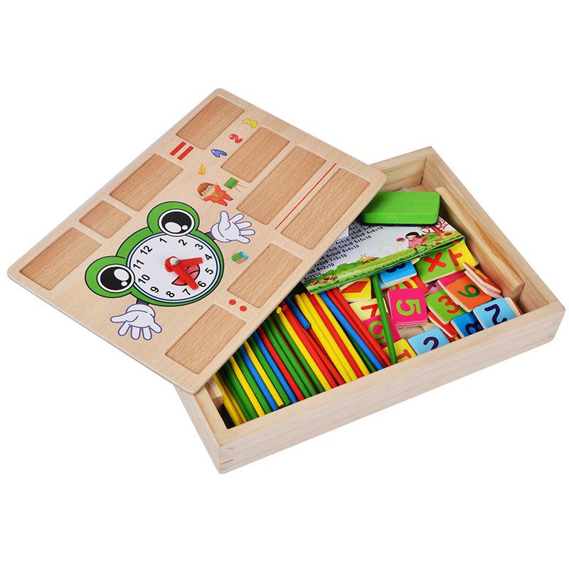 Bảng gỗ học toán có que tính cho bé
