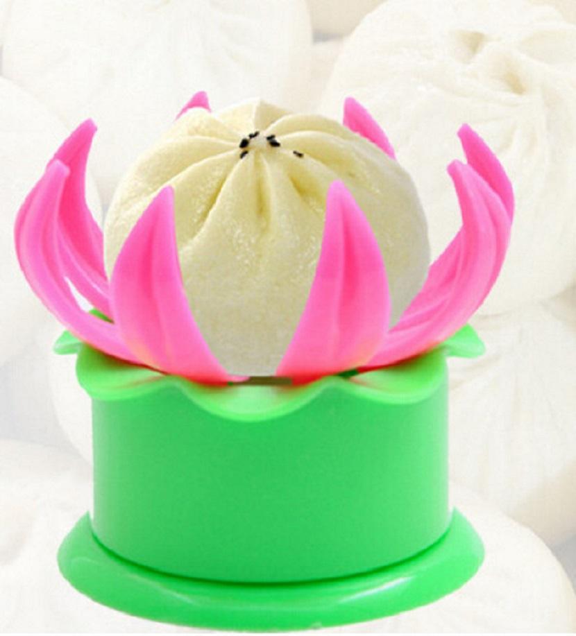 Khuôn bánh bao hình hoa sen