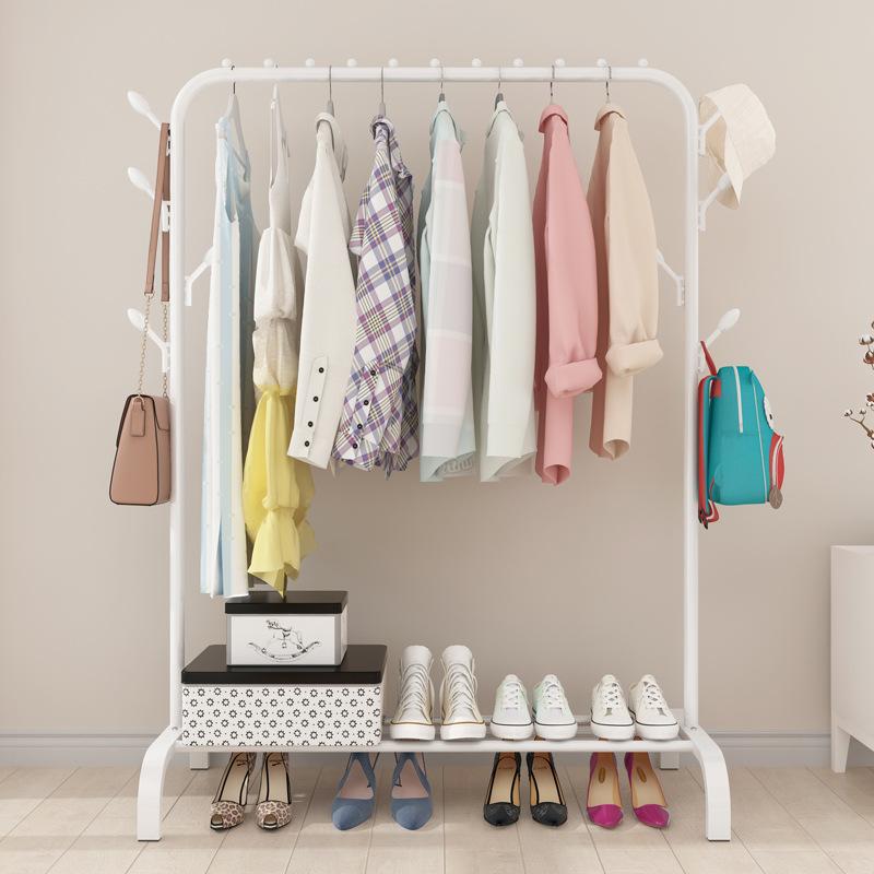 Giá treo quần áo kèm 8 móc bênh hông 150x110cm