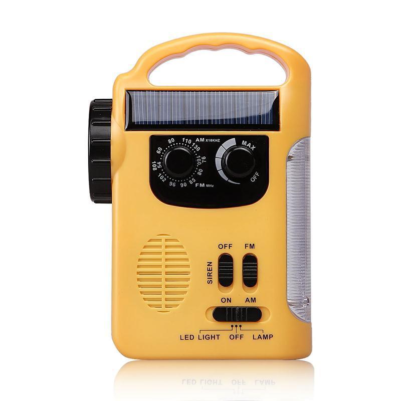 Radio đèn pin quay bằng tay năng lượng mặt trời