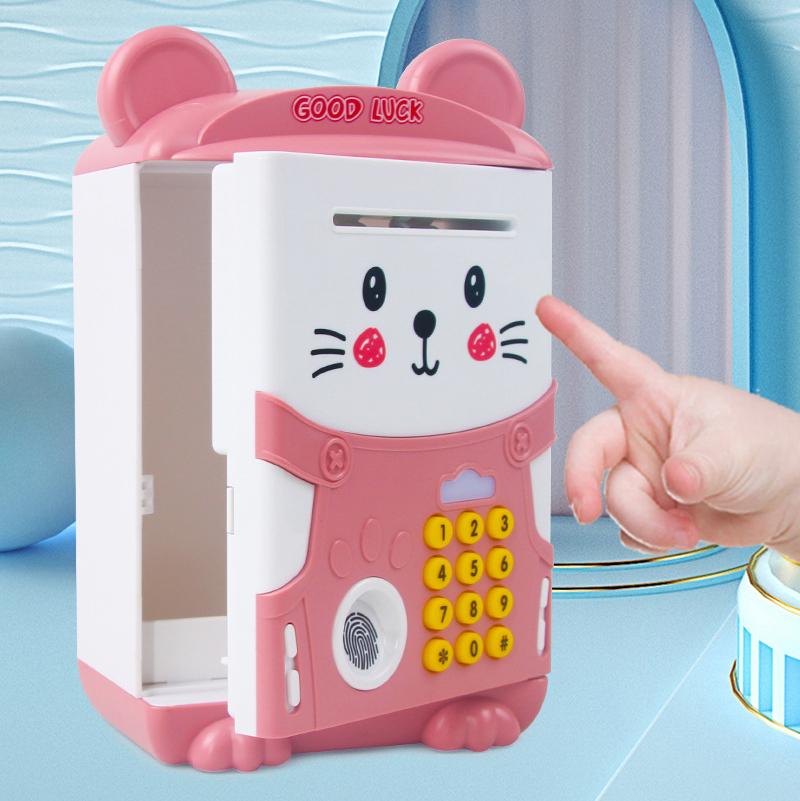 Két sắt mini dấu vân tay hình mèo