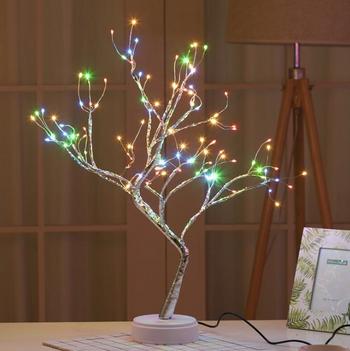 Đèn led để bàn hình nhánh cây 108 đèn ( sạc usb)
