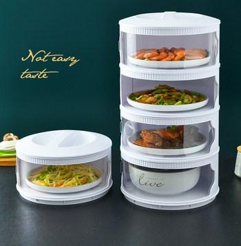 Lồng bàn đậy thức ăn tiện dụng có thể lắp thành tầng