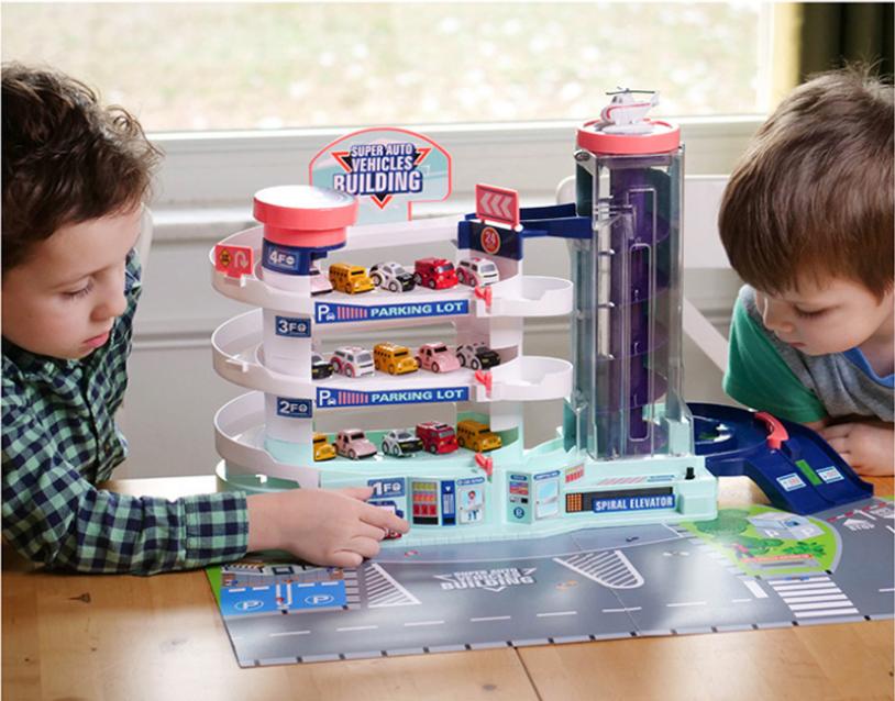 Bộ đồ chơi gara để siêu xe cho bé