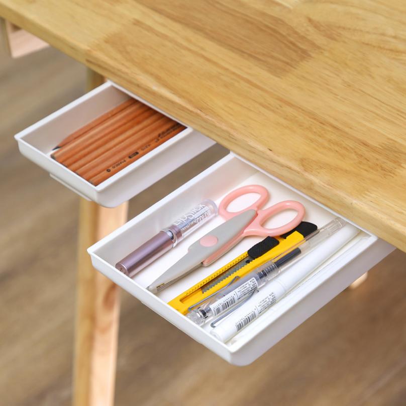 Ngăn kéo dán dưới bàn đụng bút 21.8x15.5x3.2cm