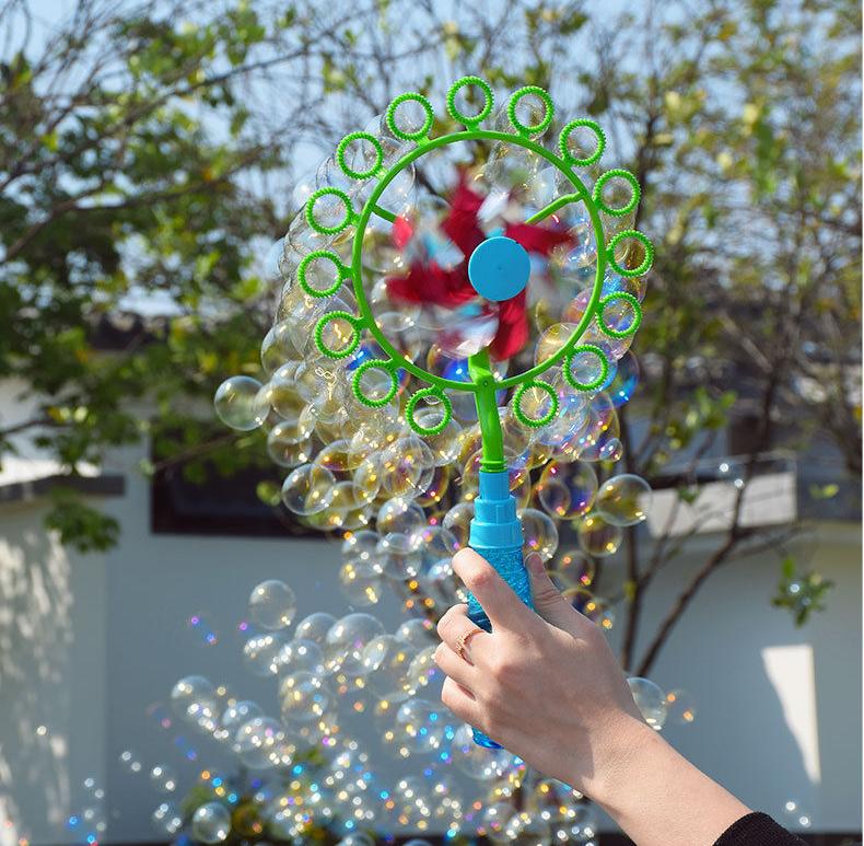 Đồ chơi tạo bong bóng hình cối xoay gió cho bé