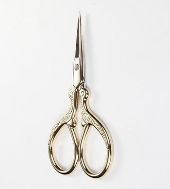 Kéo mini cắt tỉa lông mày màu vàng
