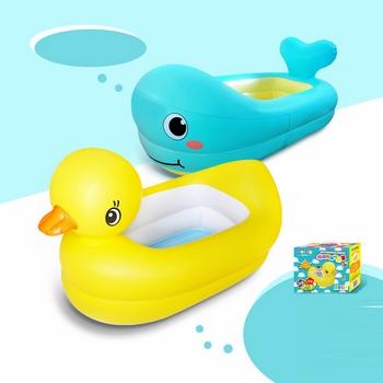 Bồn tắm hình con vịt và cá heo cho bé
