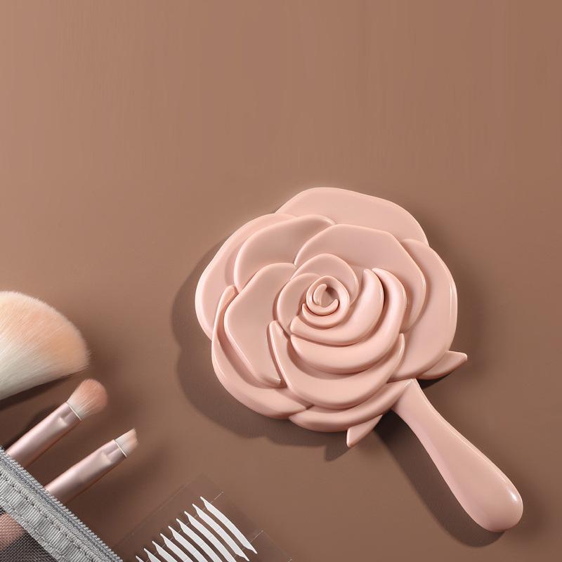 Gương cầm tay hình hoa hồng