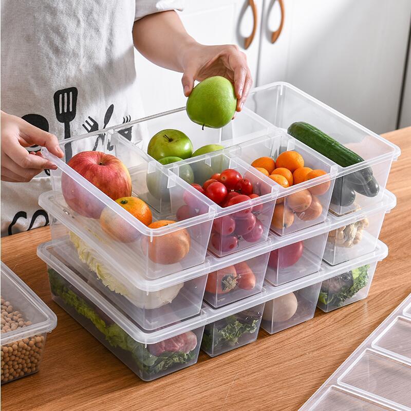 Hộp nhựa đựng đồ ăn vật dụng 5 ngăn 38x24.3x7.5cm