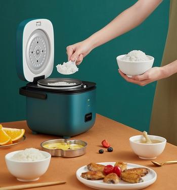 Nồi cơm điện mini tiện dụng (muỗng cơm,cốc đong,khay hấp)