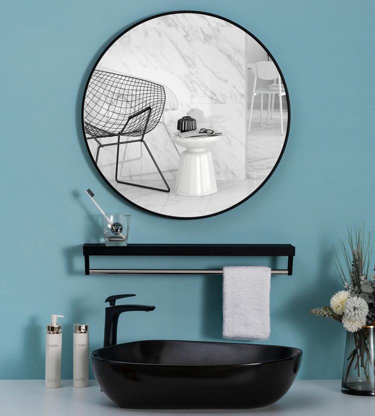 Gương tròn dán tường 50cm