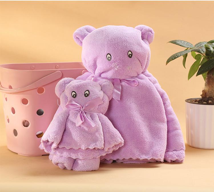 Bộ khăn tắm và khăn mặt xếp hình gấu