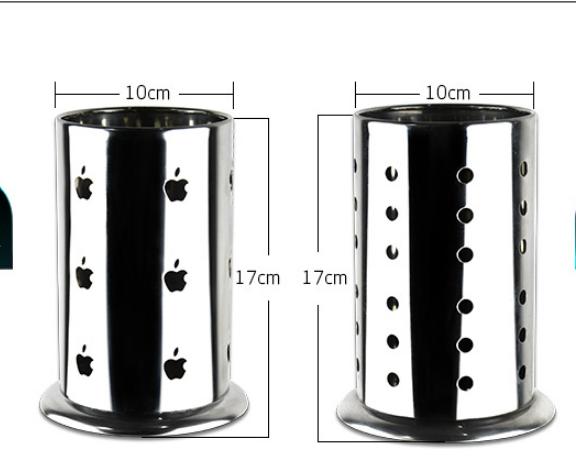 Ống đựng đũa bằng thép hình Apple, tròn to