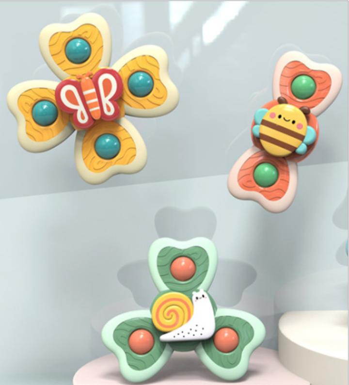 Combo 3 con quay đồ chơi dán tường cho bé hình thú dễ thương