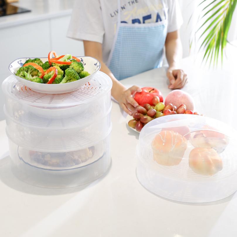Lồng bàn đậy thức ăn tách rời từng lớp (loại nhựa )