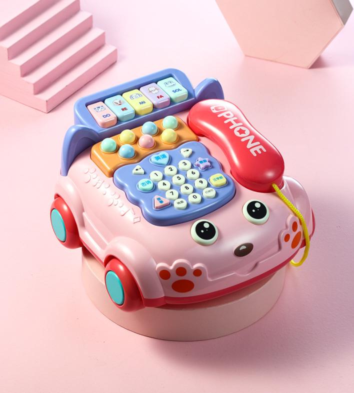 Đồ chơi mô hình điện thoại bàn hình chó dể thương cho bé