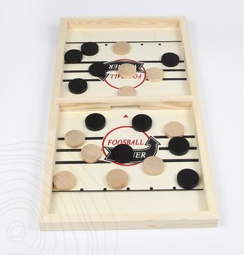 Đồ chơi cờ búng khúc côn cầu bàn gỗ 54.7x24.5cm